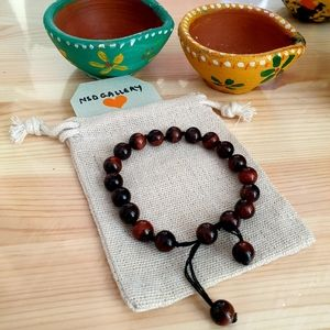 Other - Adjustable gemstone healing bracelet-Red Tiger Eye